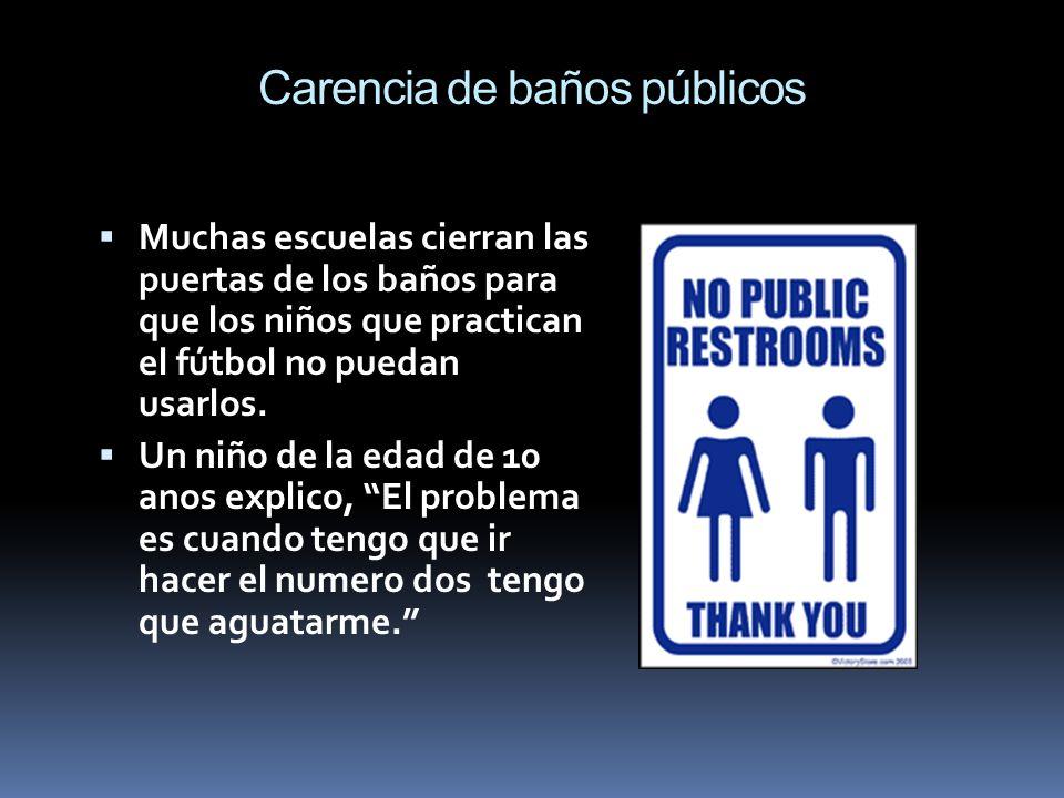 Carencia de baños públicos