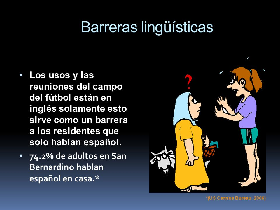 Barreras lingüísticas