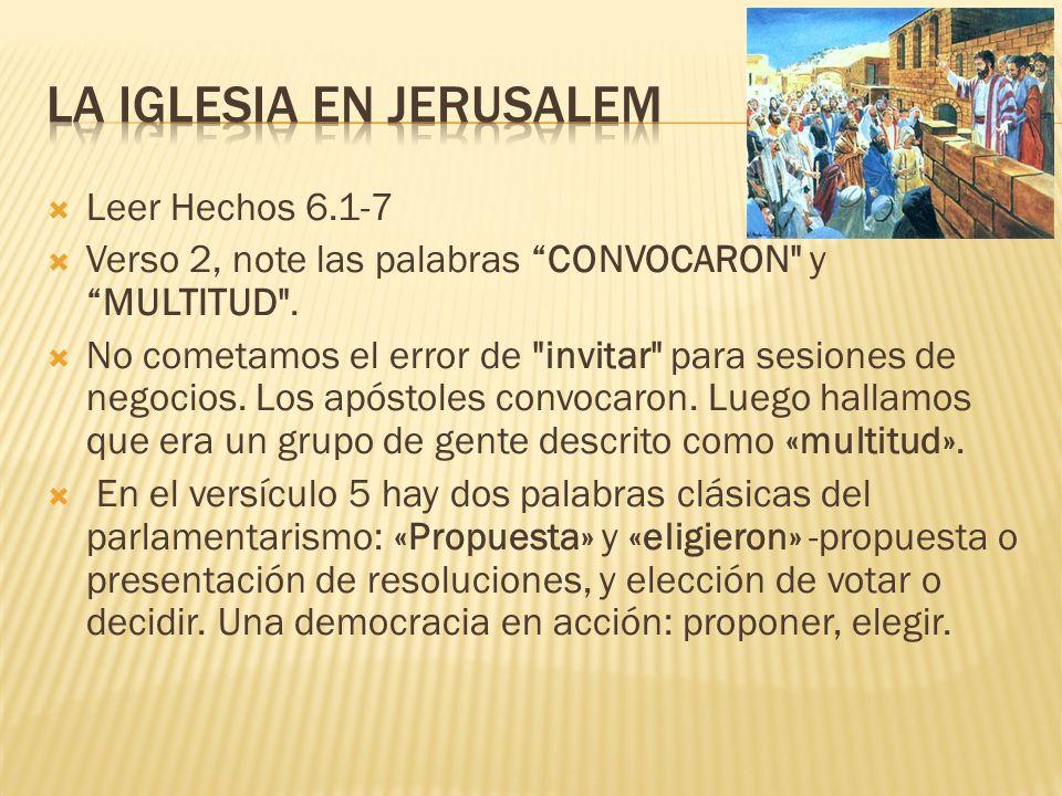 La iglesia en jerusalem