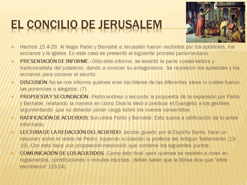 El concilio de jerusalem