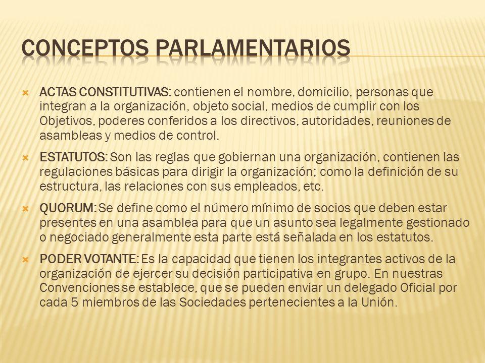 Conceptos parlamentarios