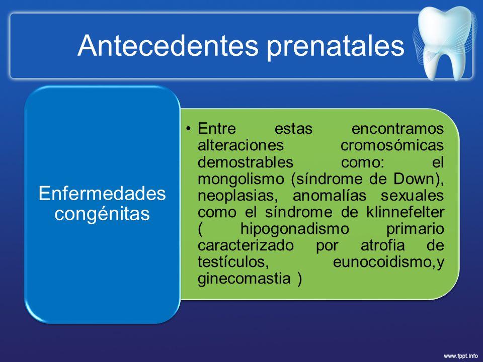 Antecedentes prenatales