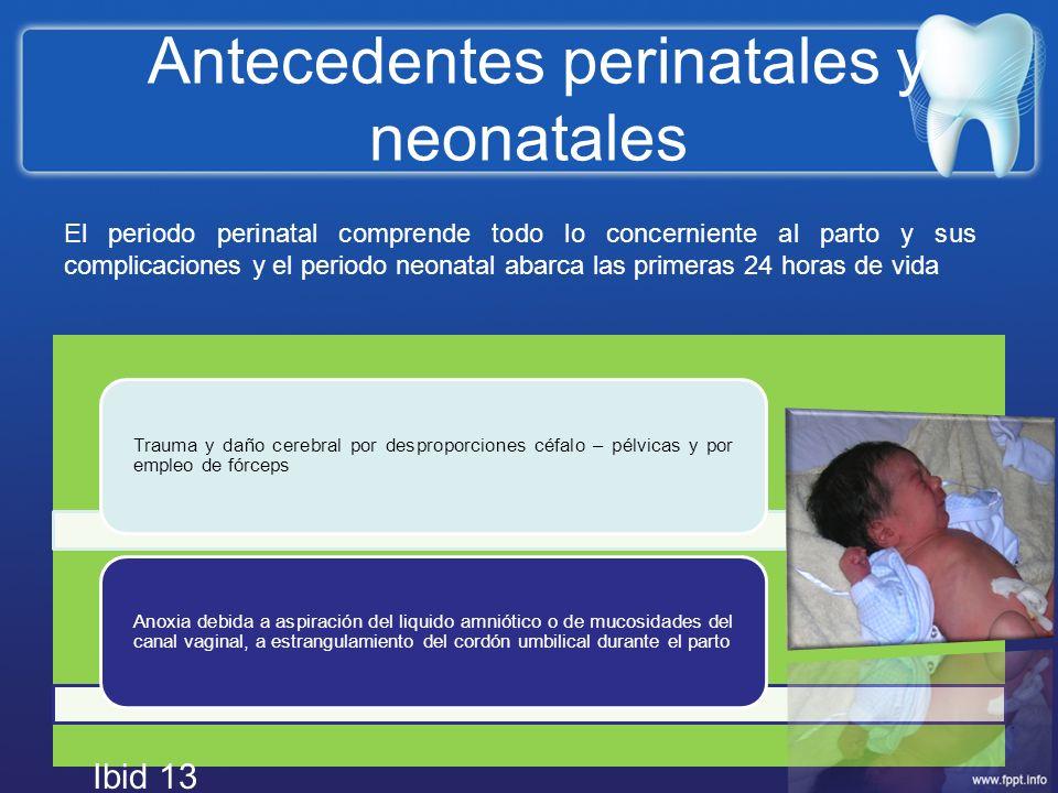 Antecedentes perinatales y neonatales