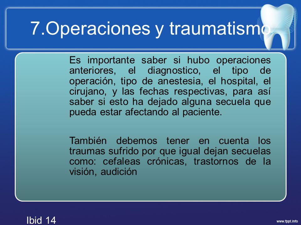 7.Operaciones y traumatismo