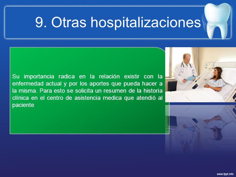 9. Otras hospitalizaciones