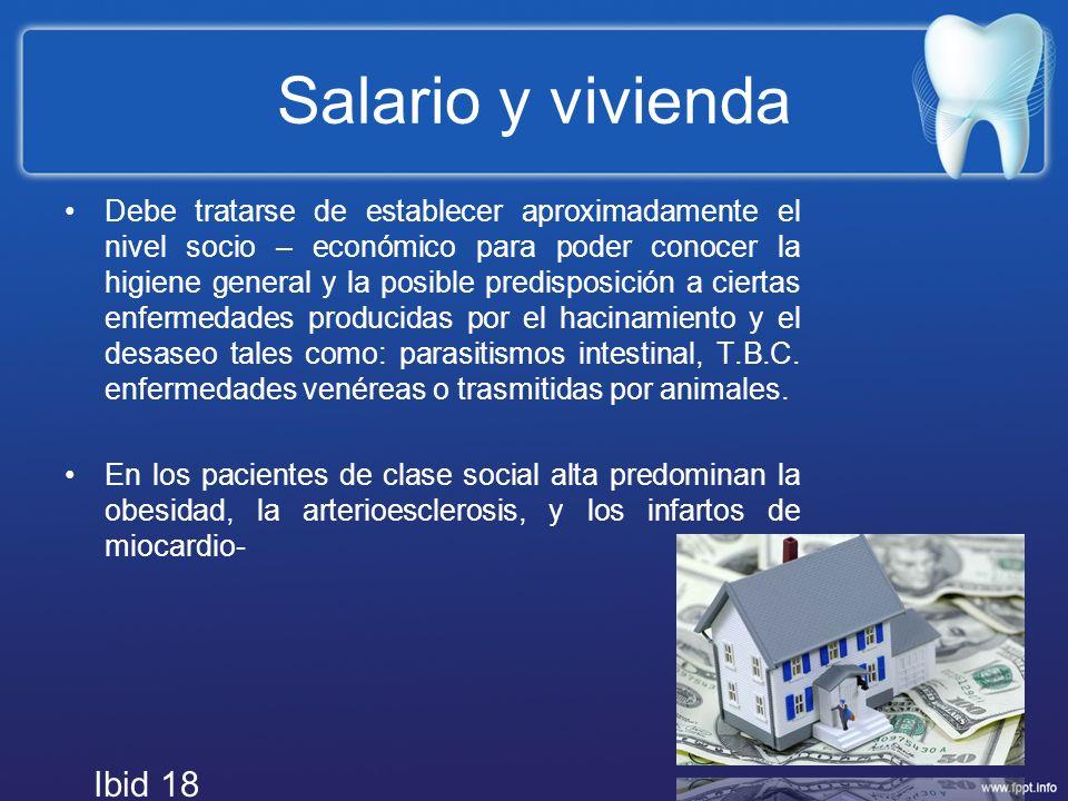 Salario y vivienda Ibid 18