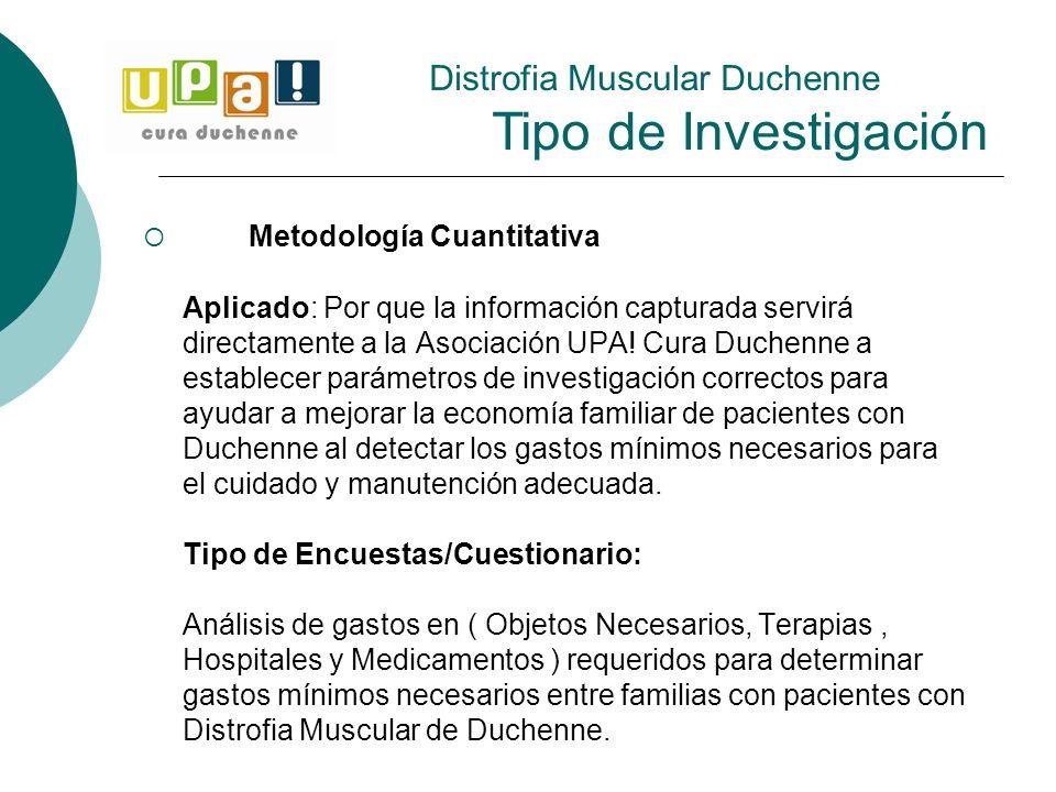 Distrofia Muscular Duchenne Tipo de Investigación
