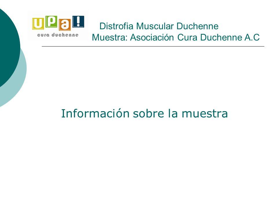 Información sobre la muestra