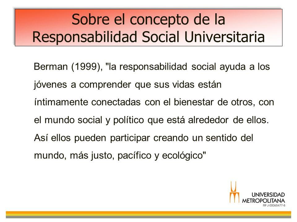 Sobre el concepto de la Responsabilidad Social Universitaria