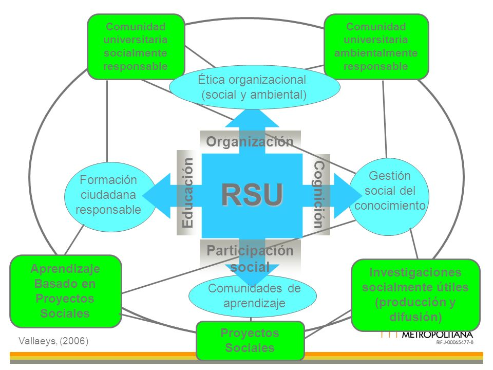 RSU Organización Educación Cognición Participación social