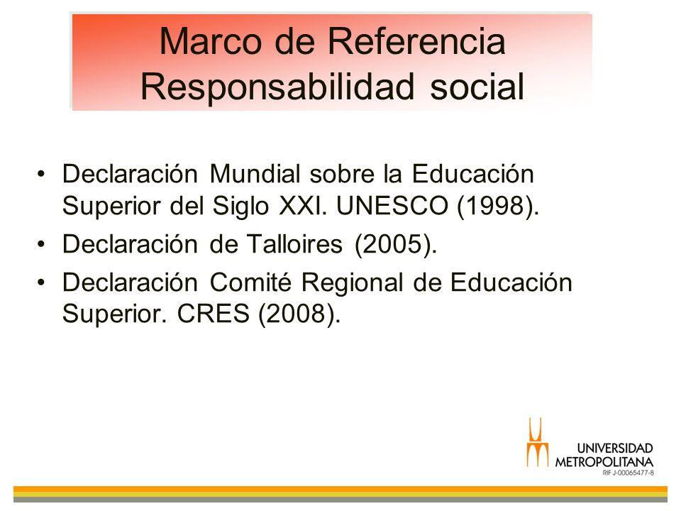 Marco de Referencia Responsabilidad social