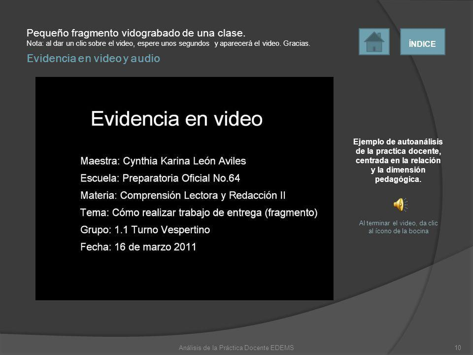 Evidencia en video y audio