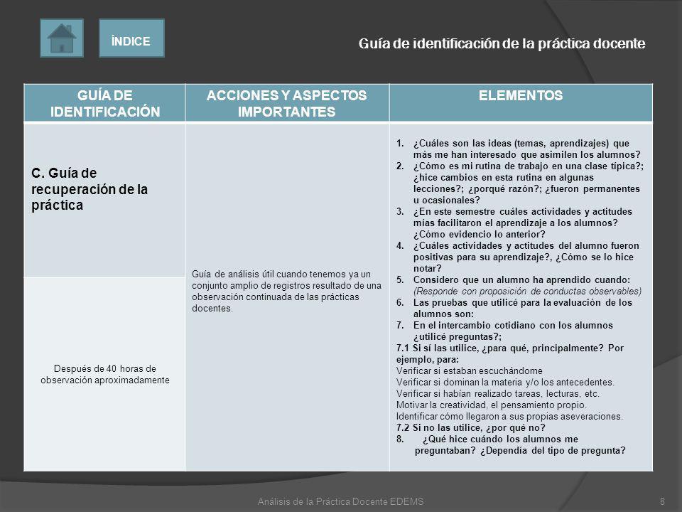 GUÍA DE IDENTIFICACIÓN ACCIONES Y ASPECTOS IMPORTANTES