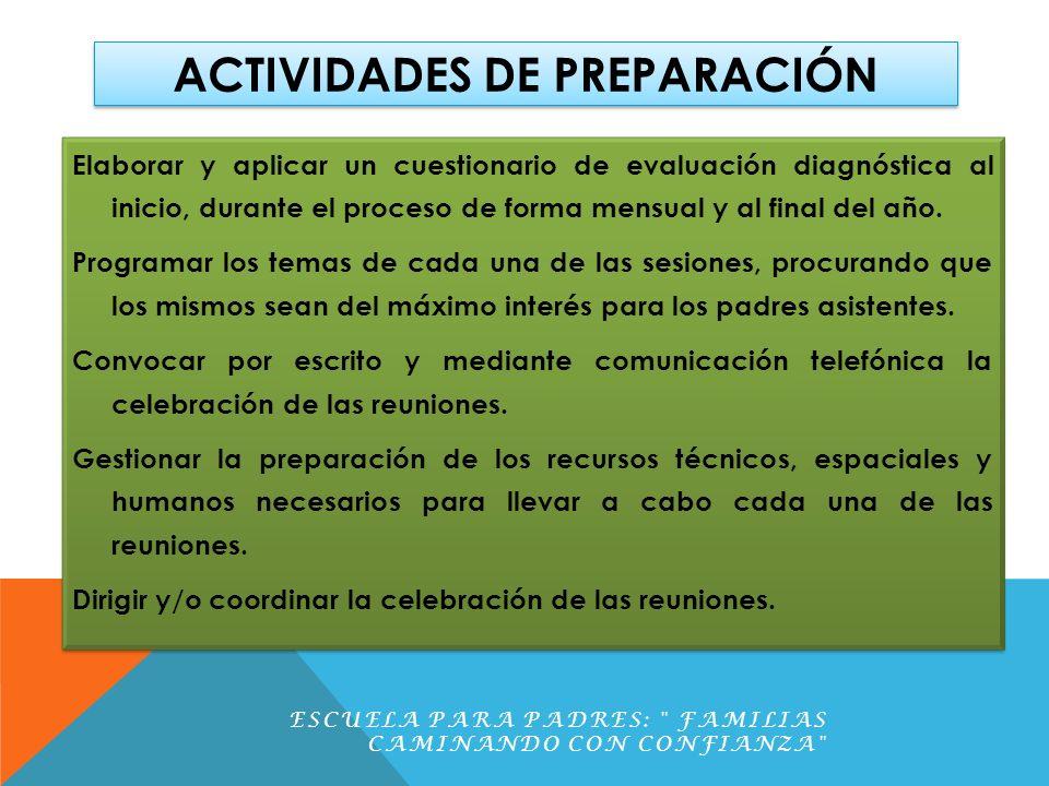 ACTIVIDADES DE PREPARACIÓN