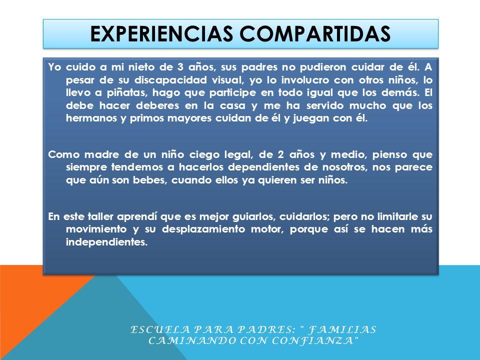 EXPERIENCIAS COMPARTIDAS