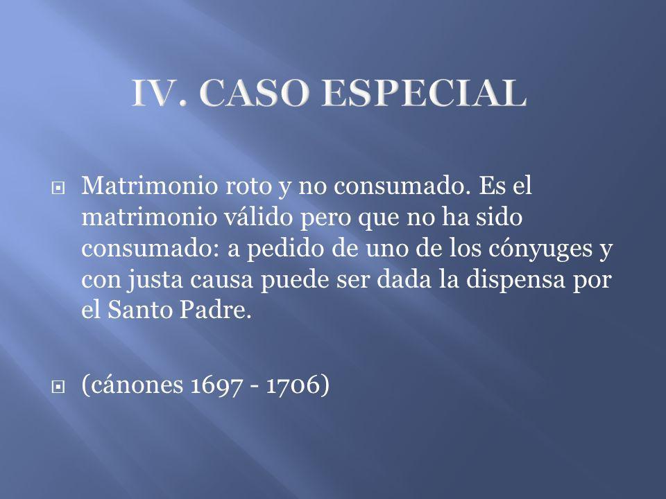 IV. CASO ESPECIAL