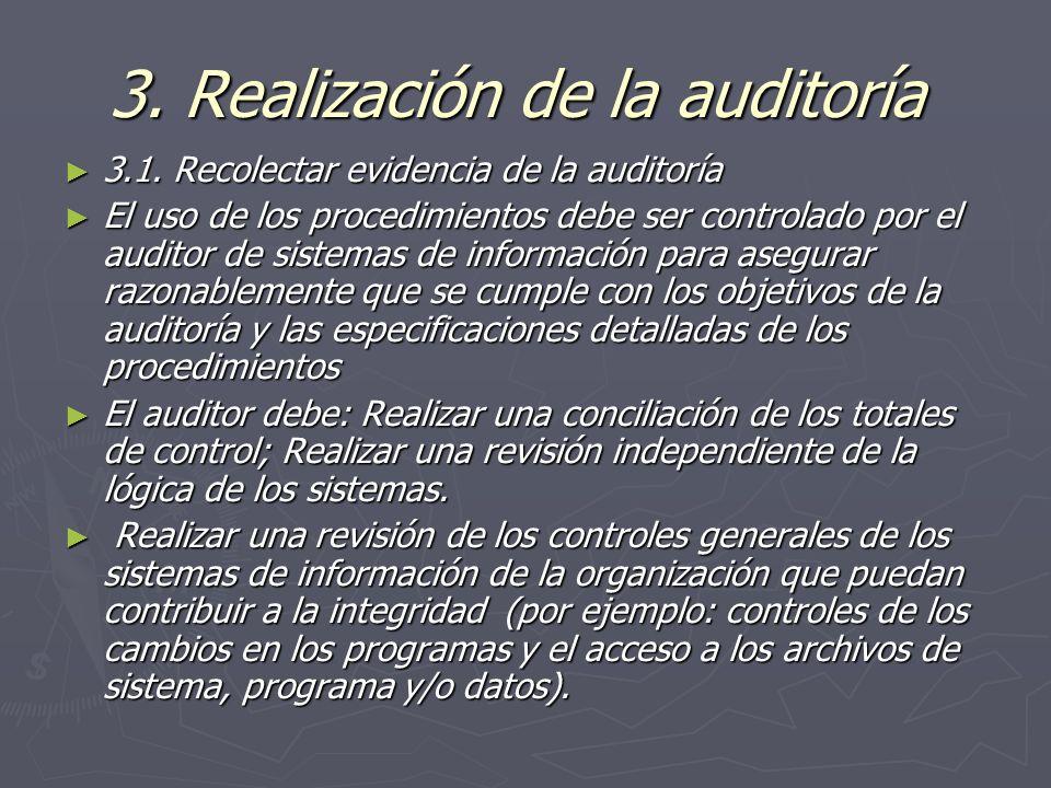 3. Realización de la auditoría
