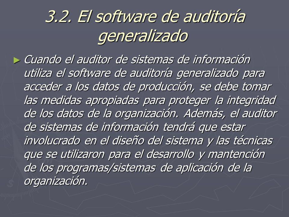3.2. El software de auditoría generalizado