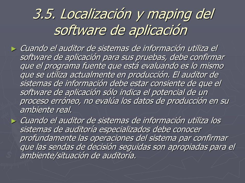 3.5. Localización y maping del software de aplicación