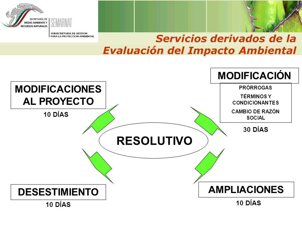 MODIFICACIONES AL PROYECTO TÉRMINOS Y CONDICIONANTES