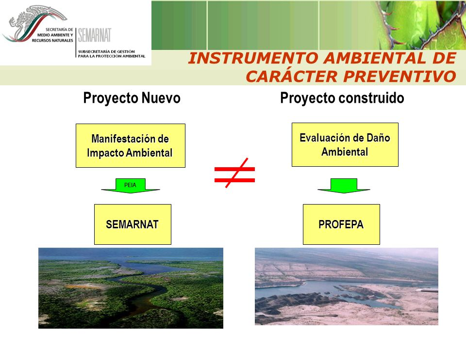Manifestación de Impacto Ambiental Evaluación de Daño Ambiental