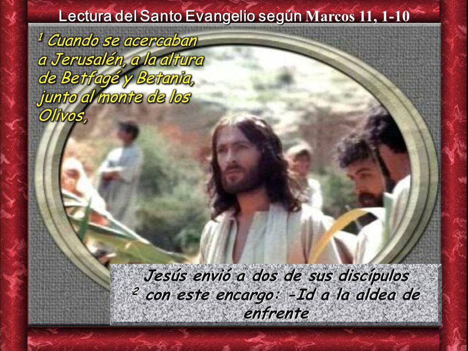 Lectura del Santo Evangelio según Marcos 11, 1-10