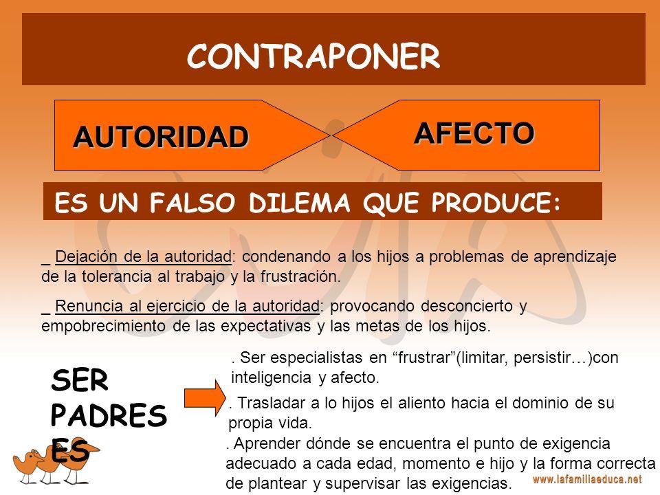 CONTRAPONER AFECTO AUTORIDAD SER PADRES ES
