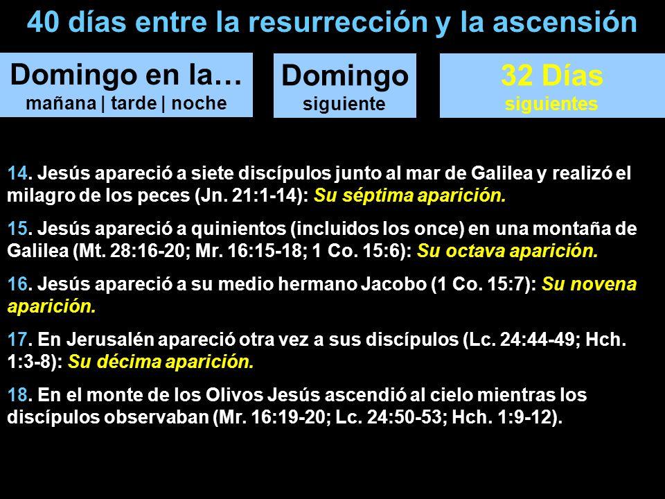 40 días entre la resurrección y la ascensión