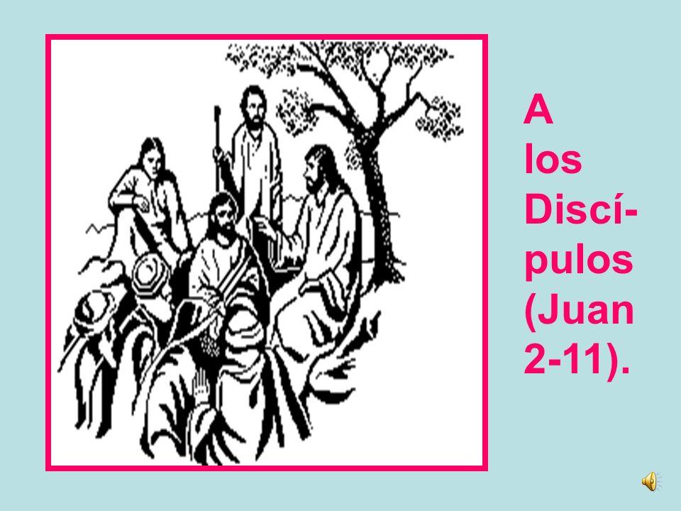 A los Discí- pulos (Juan 2-11).