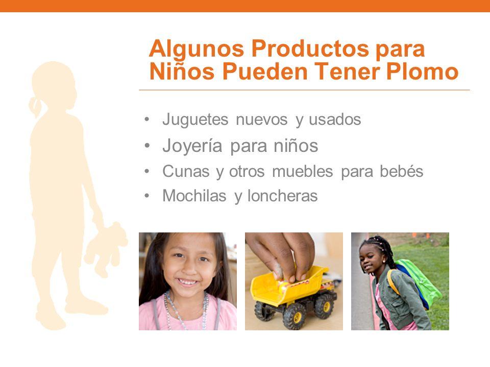 Algunos Productos para Niños Pueden Tener Plomo