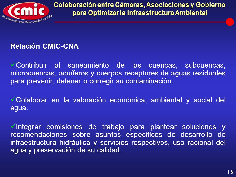 Relación CMIC-CNA