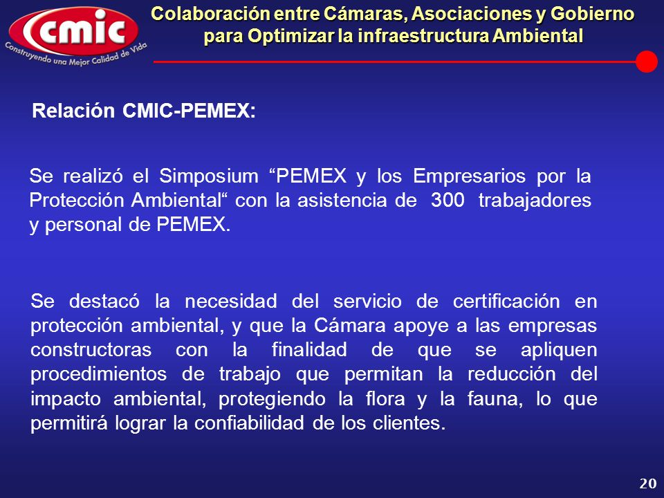 Relación CMIC-PEMEX: