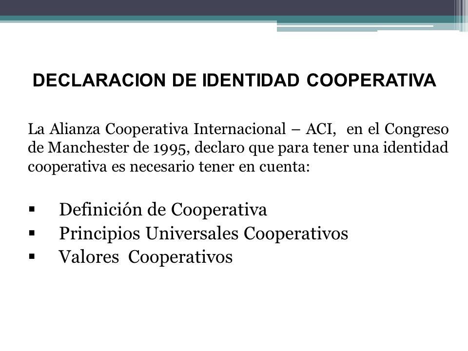 DECLARACION DE IDENTIDAD COOPERATIVA