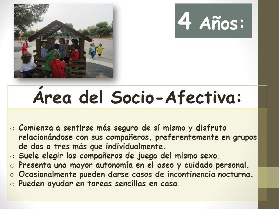 Área del Socio-Afectiva: