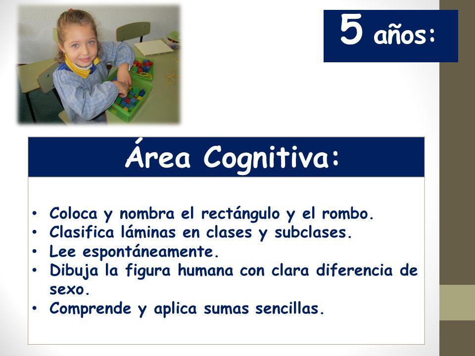 Área Cognitiva: 5 años: Coloca y nombra el rectángulo y el rombo.