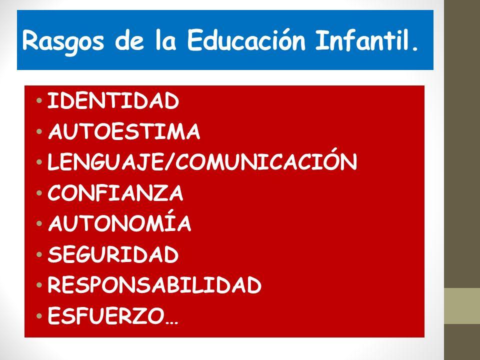 Rasgos de la Educación Infantil.