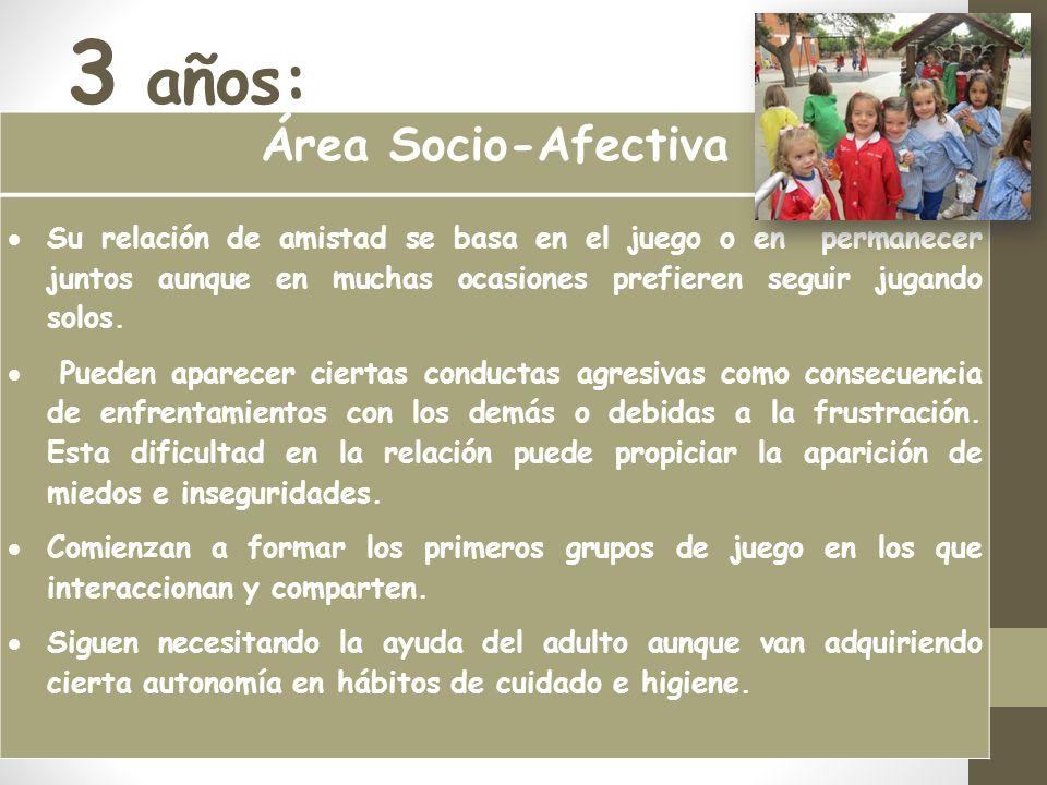3 años: Área Socio-Afectiva