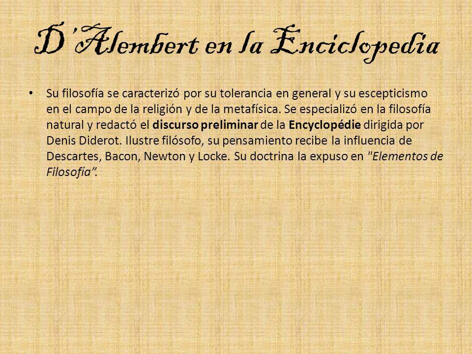 D'Alembert en la Enciclopedia