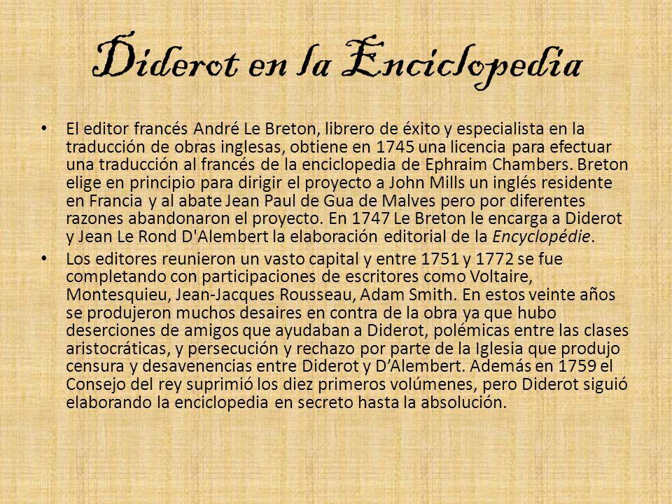 Diderot en la Enciclopedia