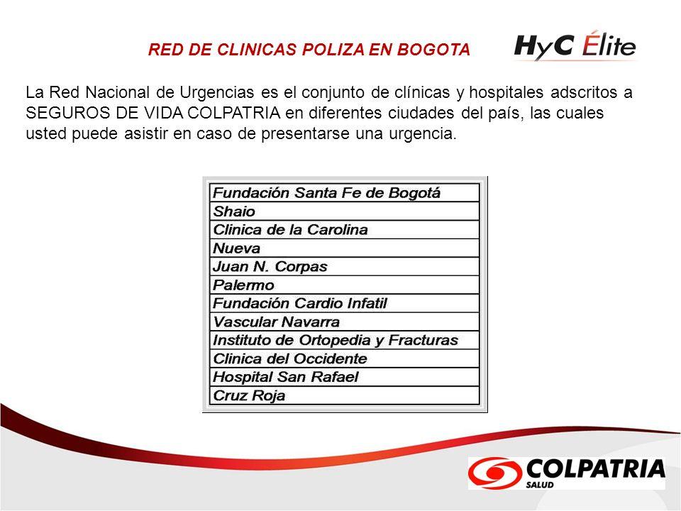 RED DE CLINICAS POLIZA EN BOGOTA