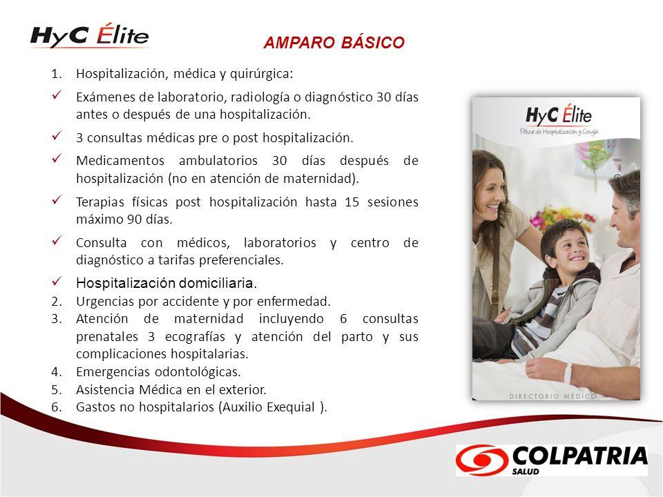 AMPARO BÁSICO Hospitalización, médica y quirúrgica: