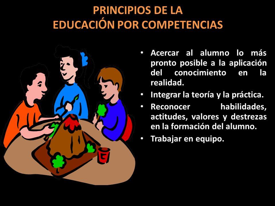 PRINCIPIOS DE LA EDUCACIÓN POR COMPETENCIAS