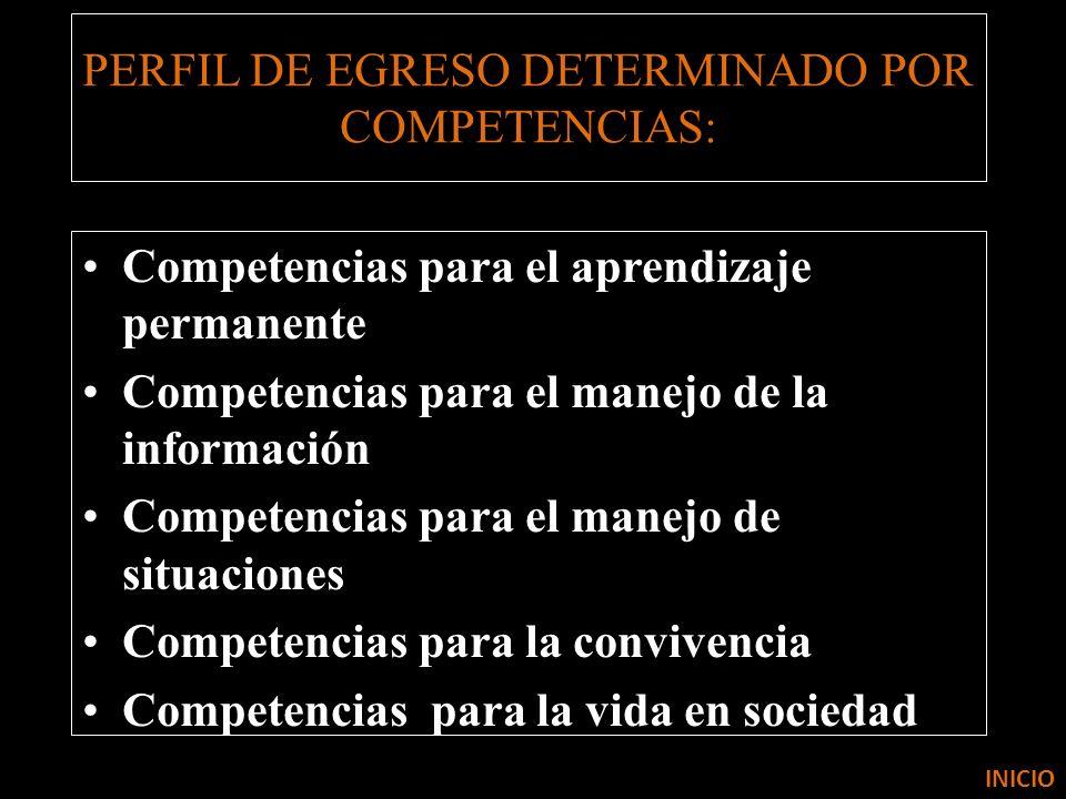 PERFIL DE EGRESO DETERMINADO POR COMPETENCIAS: