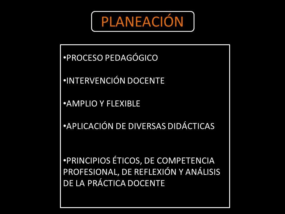PLANEACIÓN PROCESO PEDAGÓGICO INTERVENCIÓN DOCENTE AMPLIO Y FLEXIBLE