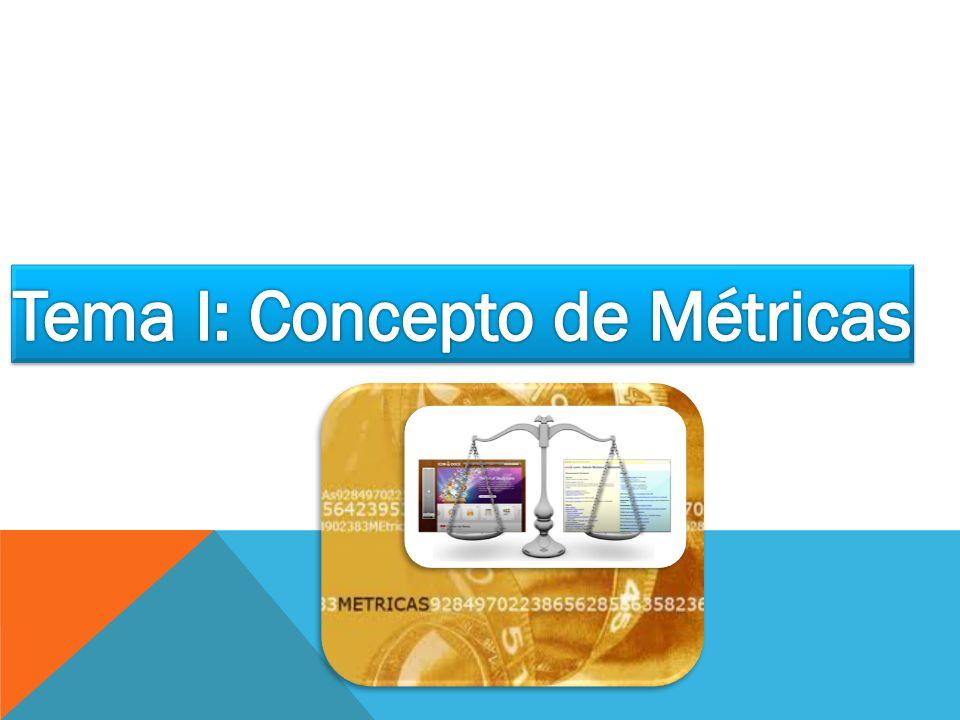 Tema I: Concepto de Métricas