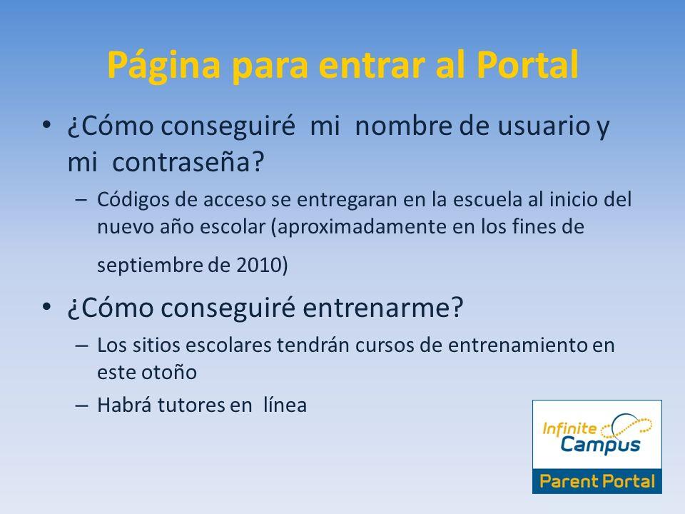 Página para entrar al Portal
