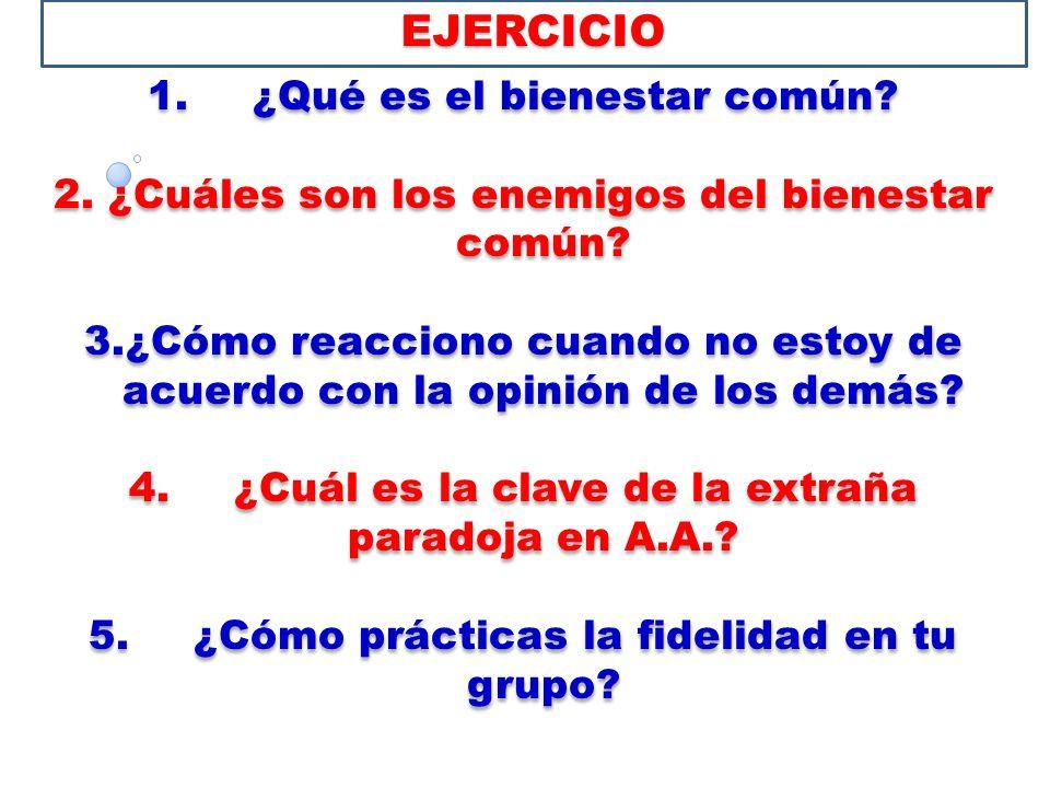 EJERCICIO 1. ¿Qué es el bienestar común
