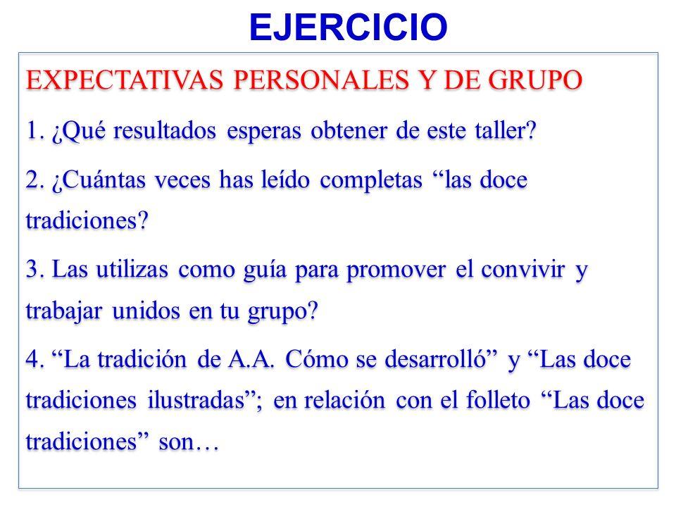 EJERCICIO EXPECTATIVAS PERSONALES Y DE GRUPO