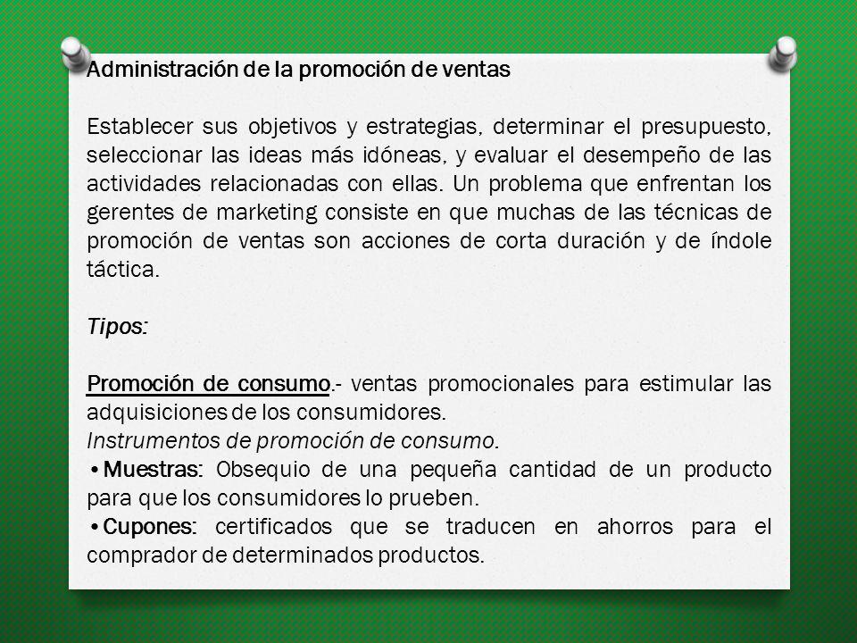 Administración de la promoción de ventas