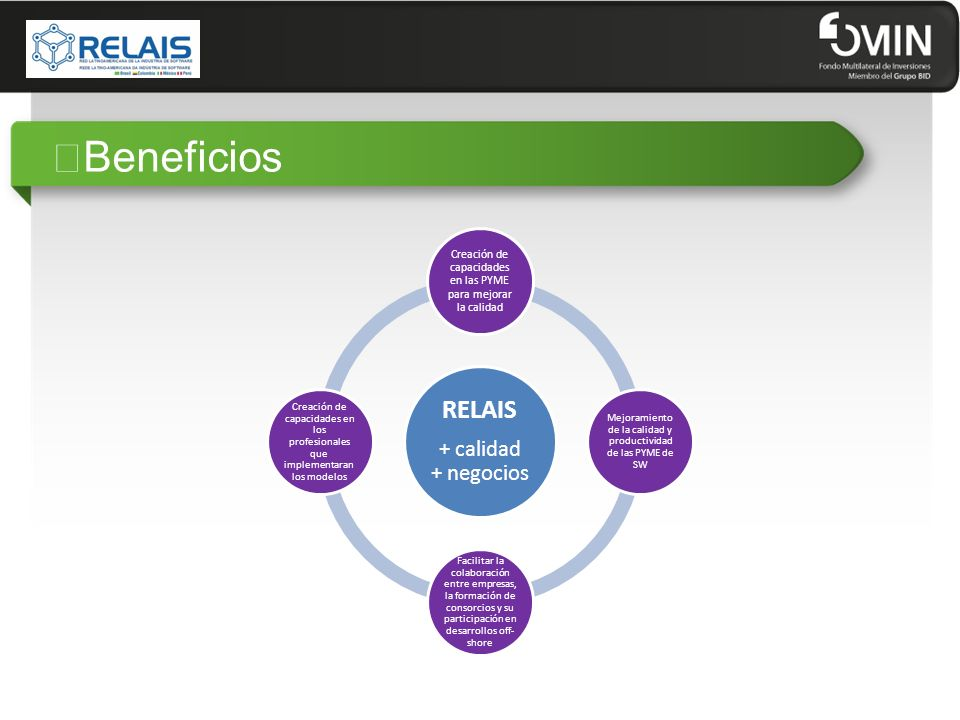"""""""Beneficios RELAIS + calidad + negocios"""